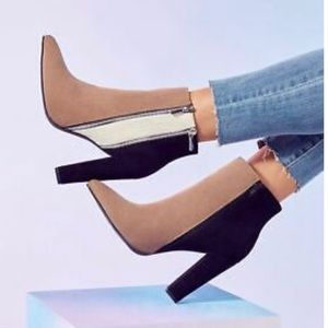 Chic Colorblock Booties US W size 9.5!